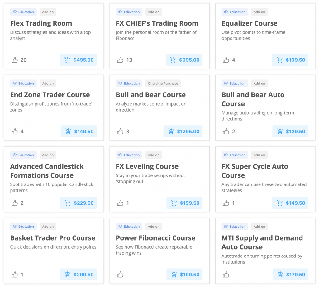 SmartTrader Course Listings